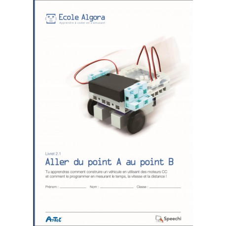 "Livret Algora 2.1 ""Aller du point A au point B"" - 1 élève"