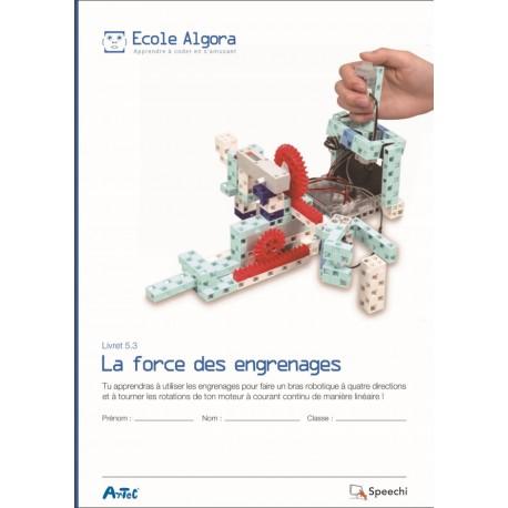 """Livret Algora 5.3 """"La force des engrenages"""" - 1 élève"""