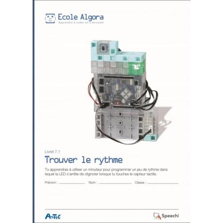 """Livret Algora 7.1 """"Trouver le rythme"""" - 1 élève"""