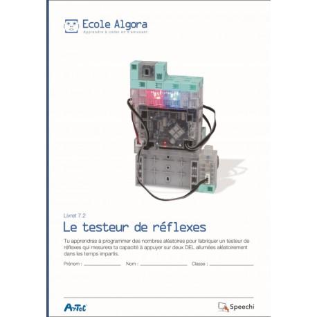 """Livret Algora 7.2 """"Le testeur de réflexes"""" - 1 élève"""