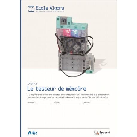 """Livret Algora 7.3 """"Le testeur de mémoire"""" - 1 élève"""