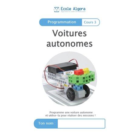 """Livret Algora (6-9 ans) - programmation 3 """"Voitures autonomes"""" - 1 élève"""