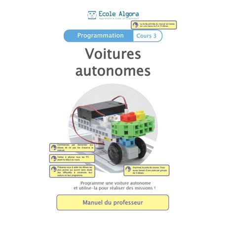 """Livret Algora (6-9 ans) - programmation 3 """"Voitures autonomes"""" - 1 professeur"""
