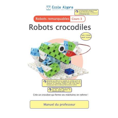 """Livret Algora (6-9 ans) - robotique 3 """"Crocobot"""" - 1 professeur"""