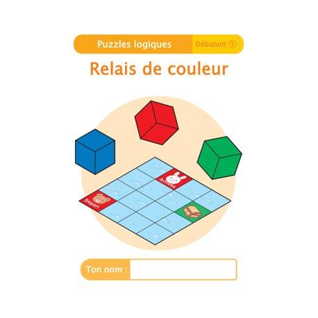 """Livret Algora (6-9 ans) - puzzle 3-1 """"Relais de couleur"""" - 1 élève"""