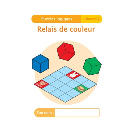 """Livret Algora (6-9 ans) - puzzle 3-2 """"Relais de couleur"""" - 1 élève"""