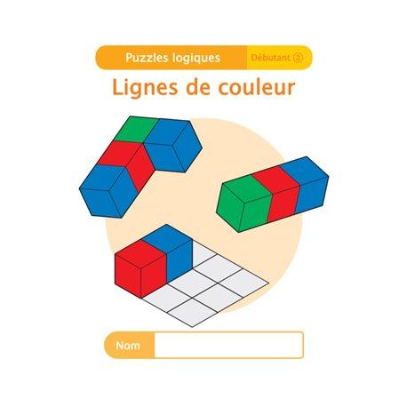 """Livret Algora (6-9 ans) - puzzle 9-2 """"Lignes de couleur"""" - 1 élève"""