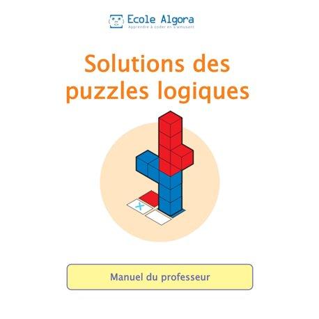 """Livret Algora (6-9 ans) - puzzle  """"Livret des solutions"""" - 1 professeur"""