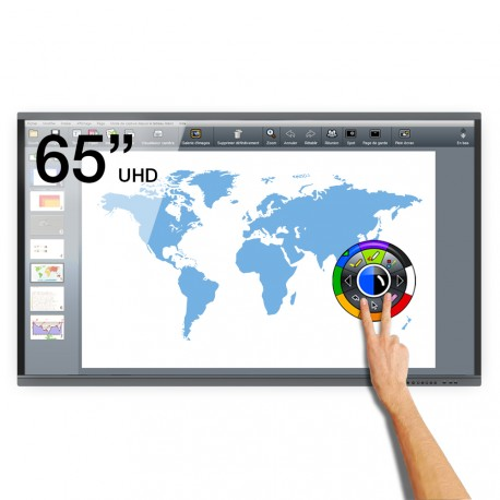 Ecran interactif tactile Android eBeam UHD - 65""