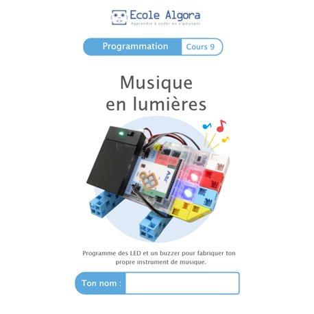 """Livret Algora (6-9 ans) - programmation 9 """"Musique en lumières"""" - 1 élève"""