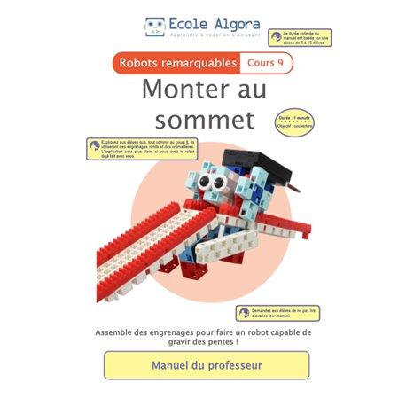 """Livret Algora (6-9 ans) - robotique 9 """"Monter au sommet"""" - 1 professeur"""