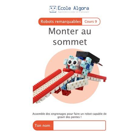"""Livret Algora (6-9 ans) - robotique 9 """"Monter au sommet"""" - 1 élève"""