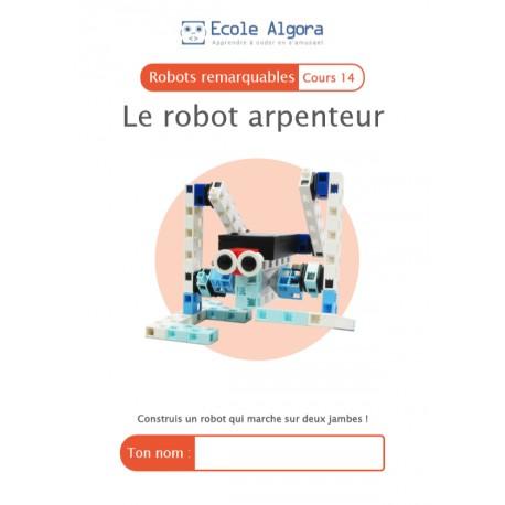 Robots remarquables - cours 14 : Le robot arpenteur - 1 élève