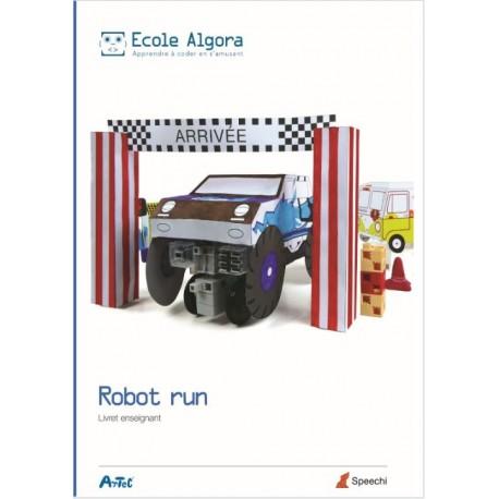 Livret Algora du professeur (9-14 ans) - Cursus vacance Robot Run (livret A5) - 1 professeur