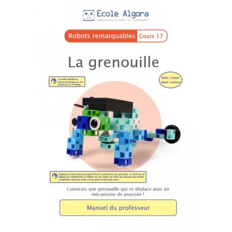 Robots remarquables - cours 17 : La grenouille - 1 professeur