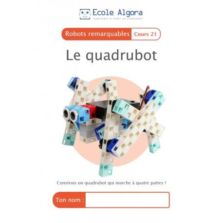 Livret élève Algora (6-9 ans) - Robotique - cours 21 : Le quadrubot