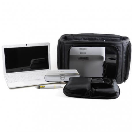 Pack VanITyBag + eBeam Edge Plus wireless sans fil  + Ricoh PJ-WX4153+ Kit sans fil HDMI + PC 11,6''