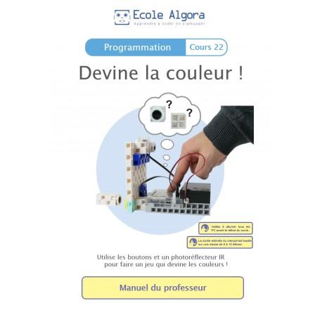 Livret professeur Algora (6-9 ans) - Programmation - cours 23 : Devine la couleur
