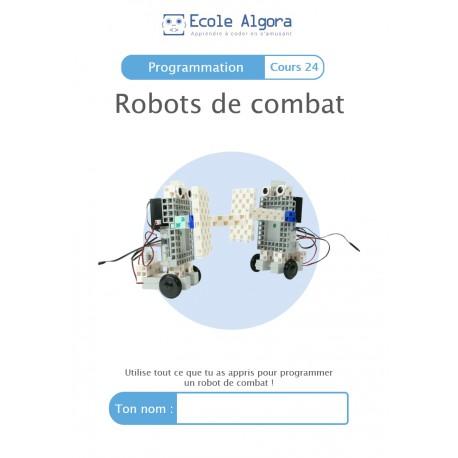 Livret élève Algora (6-9 ans) - Robots de combat