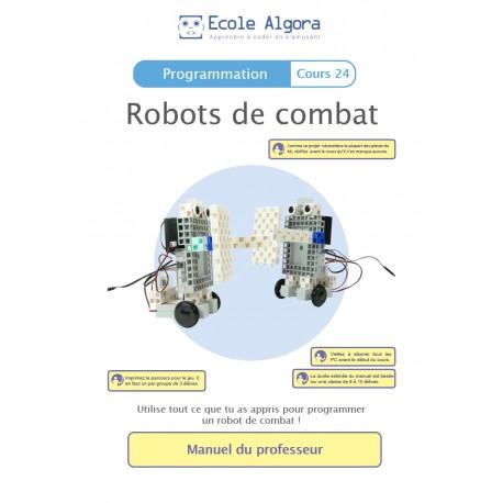 Livret professeur Algora (6-9 ans) - Robots de combat