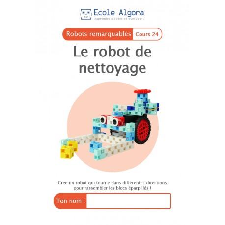 Livret élève Algora (6-9 ans) - Robotique - cours 24 : Le robot de nettoyage