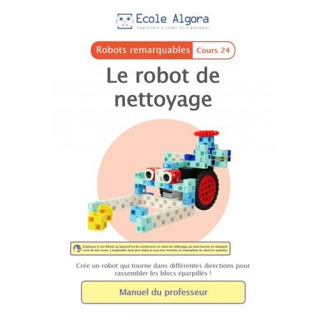 Livret professeur Algora (6-9 ans) - Robotique - cours 24 : Le robot de nettoyage