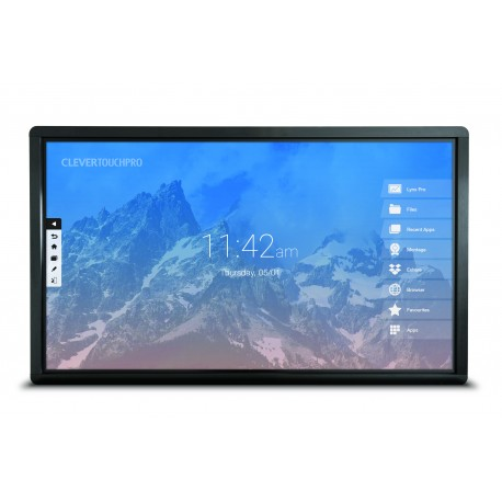 "Ecran interactif tactile Android CleverTouch Pro 4K - 75"" OTA Double-slot"