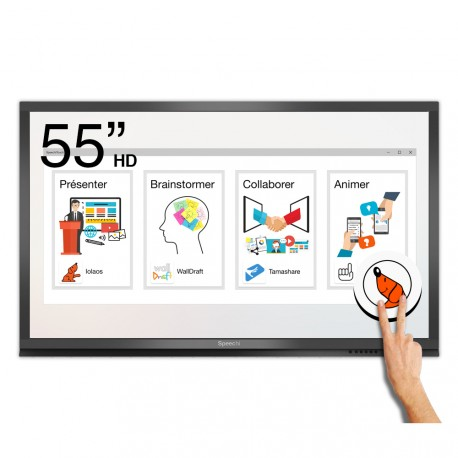 Ecran interactif tactile Android Windows SpeechiTouch Pro HD - 55""