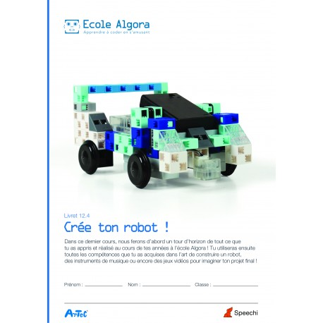Livret élève Algora 12.4 : Crée ton robot !