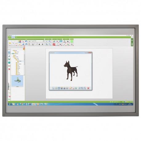 Tableau blanc interactif fixe tactile, 10 points de touch