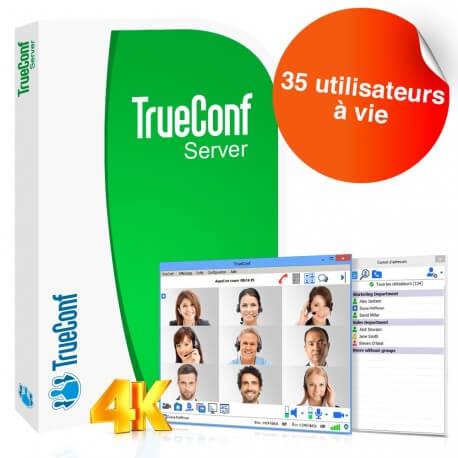 Logiciel de visioconférence TrueConf Server - 35 utilisateurs - à vie