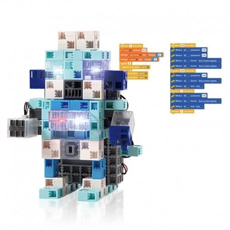 Pack d'un kit robot lumineux + 1 seau de 220 briques pastel OFFERT