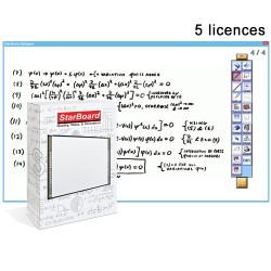 Pack 5 licences du logiciel Starboard