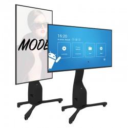Support mobile rotatif pour écran interactif et display